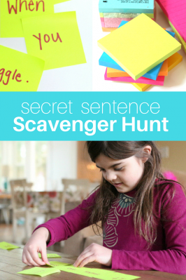 Secret Sentence Scavenger Hunt