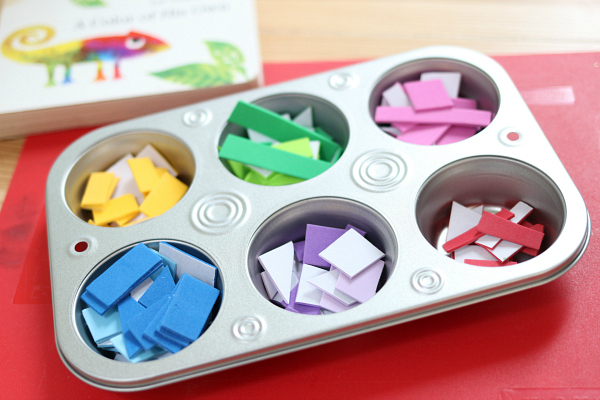 a color of his own fine motor mosaic craft