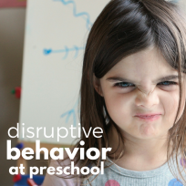 disruptive behavior at preschool and what to do