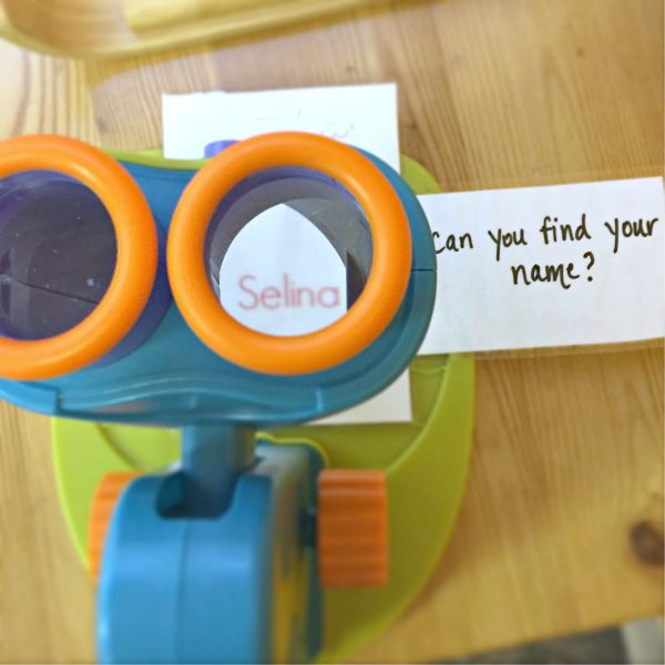 integrating literacy preschool microscope