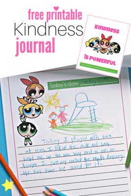 Powerpuff Girls – Printable Kindness Journal