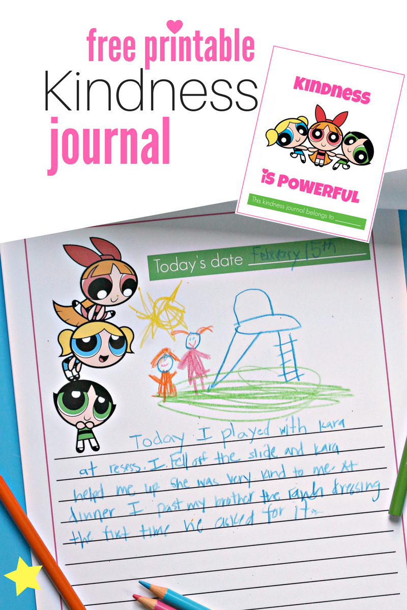 Kindness is Powerful. Kindness, teamwork, and rad superpowers save the day! The Powerpuff Girls are now exclusively on Hulu. Download this free Kindness Journal to track how you can save the day with kindness too! #ad #PowerpuffonHulu