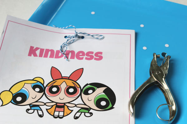 power puff girls kindness journal hole punch