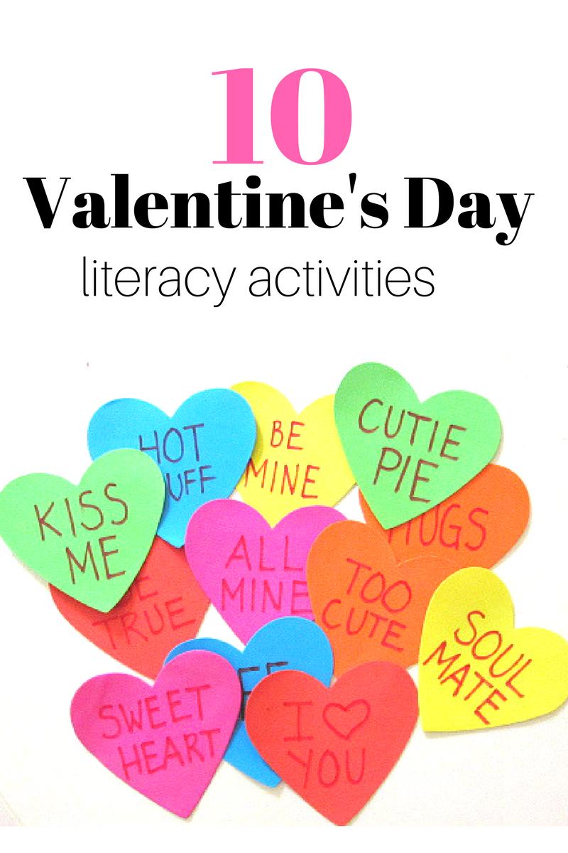 10 fun Valentine's Day literacy activities for preschool and kindergarten