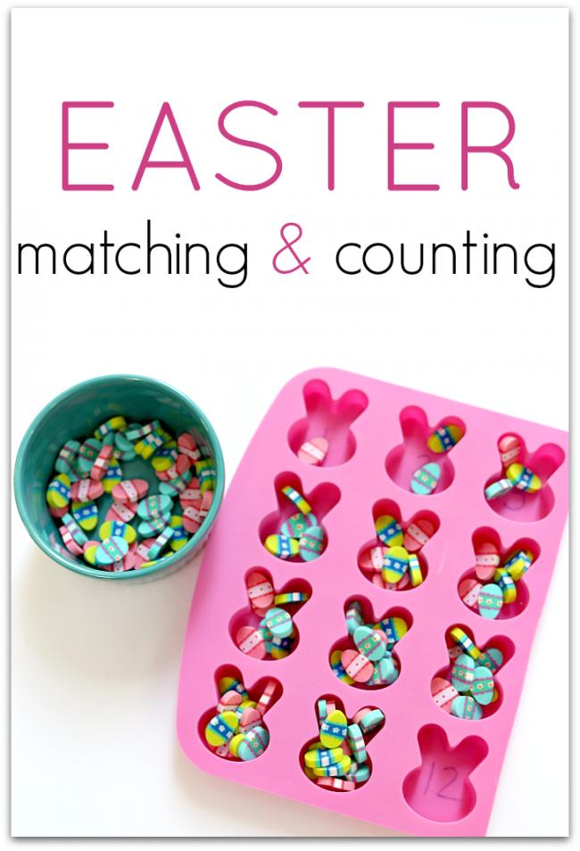 Preschool math activities for Easter.