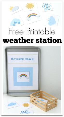 printable weather station for preschool