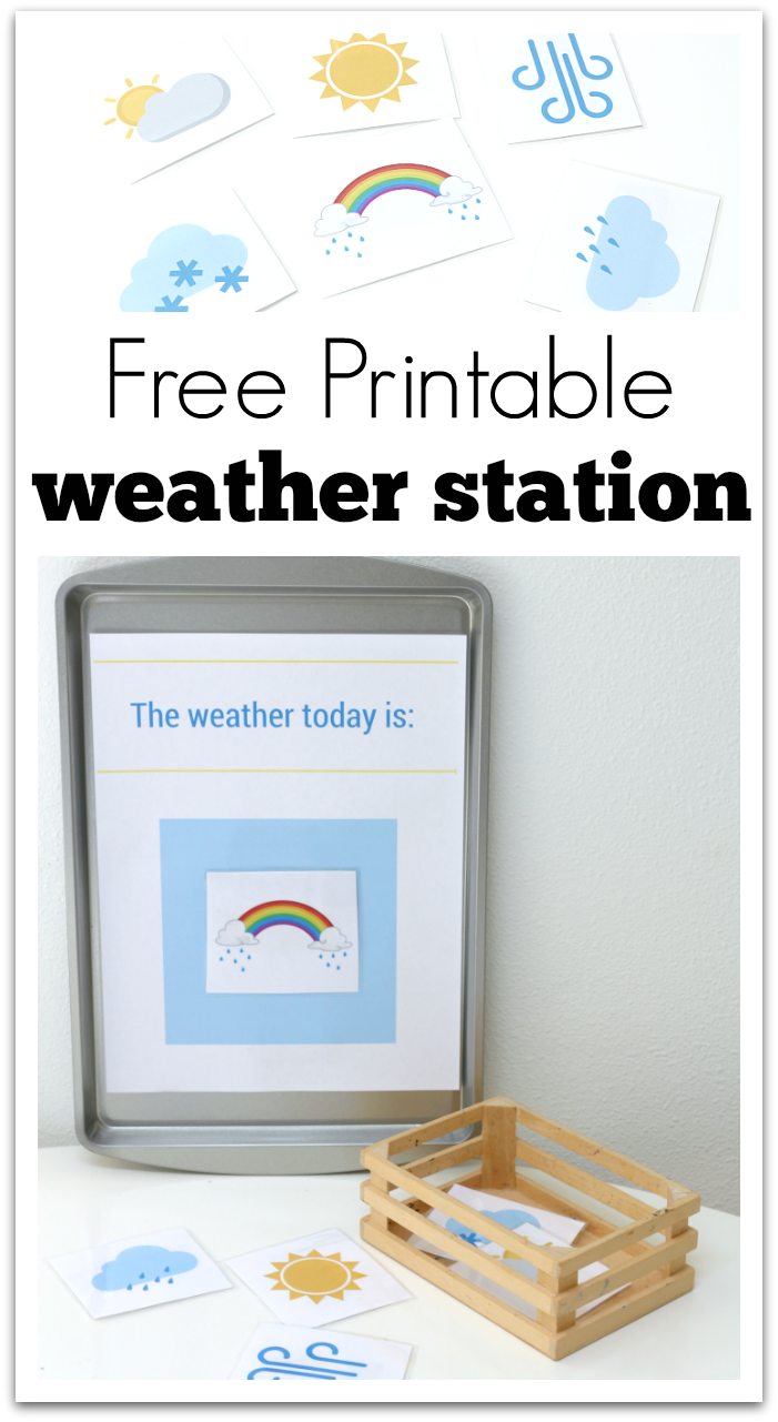 printable weather station for preschool