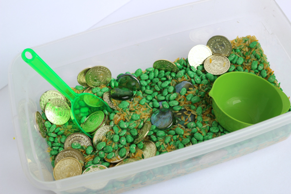 St. Patrick's Day sensory play