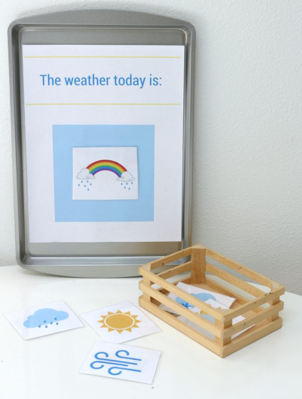 free printable magnetic weather station for preschool