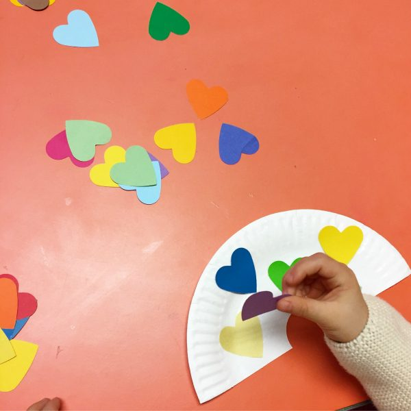 heart rainbow craft for toddlers