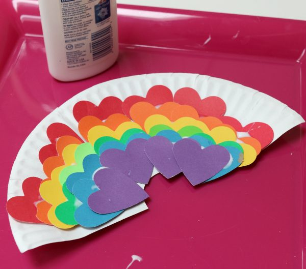 heart rainbow crafts for kids