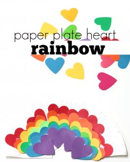 Paper Heart Rainbow Craft for Preschool