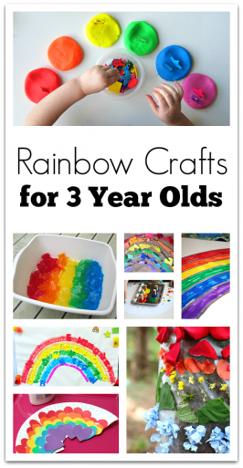 Rainbow Crafts For 3 Year Olds