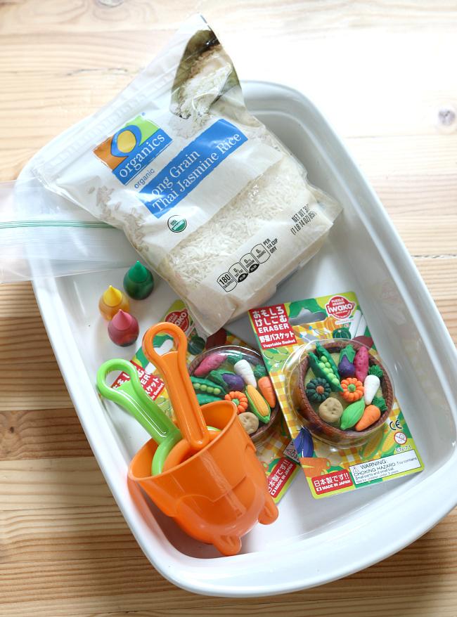 vegetable garden sensory activity for preschool