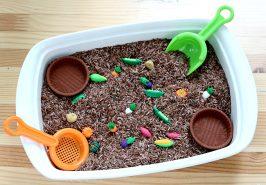 vegetable garden sensory bin for preschool