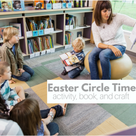 Easter Circle Time Activity and Craft for Preschool
