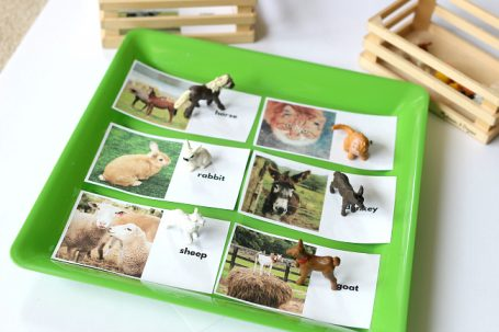 animal babies matching activity for preschool no time for flash cards
