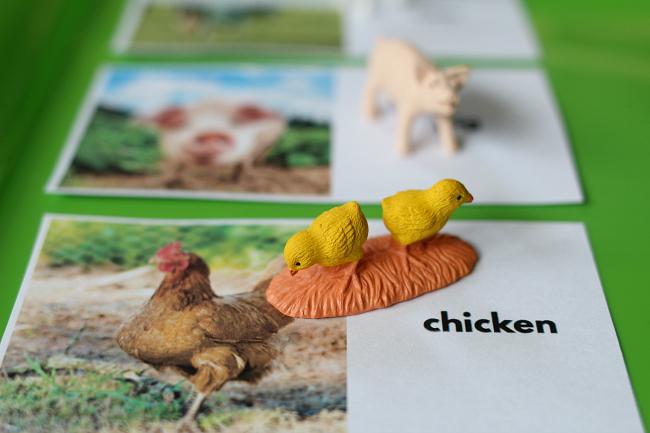 farm animal matching free printable