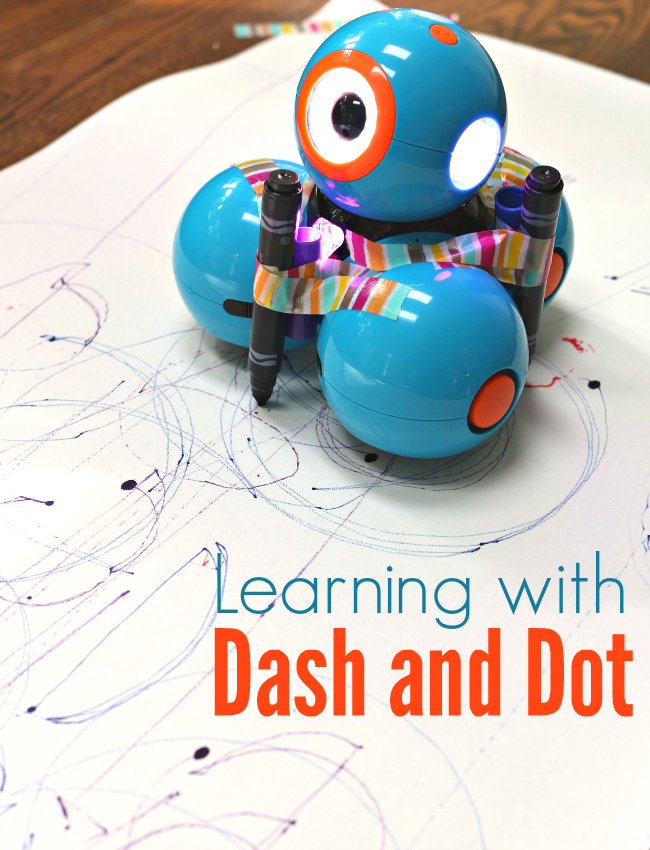 Classroom Art Ideas ~ Learning with dash dot coding and robot art no time