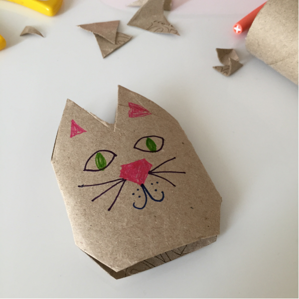 mama kitten cat craft for kids