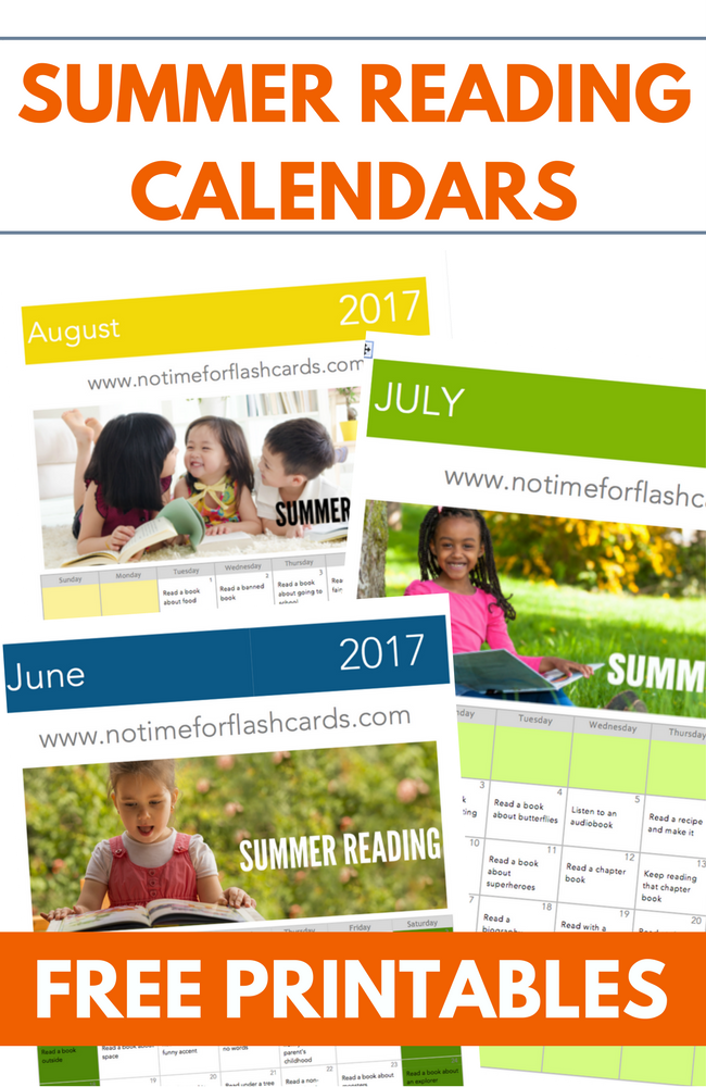Summer reading calendars - free printable calendars with great reading prompts to keep your kids interested in reading all summer long.