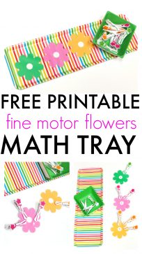 FREE PRINTABLE fine motor activity abd math tray preschool