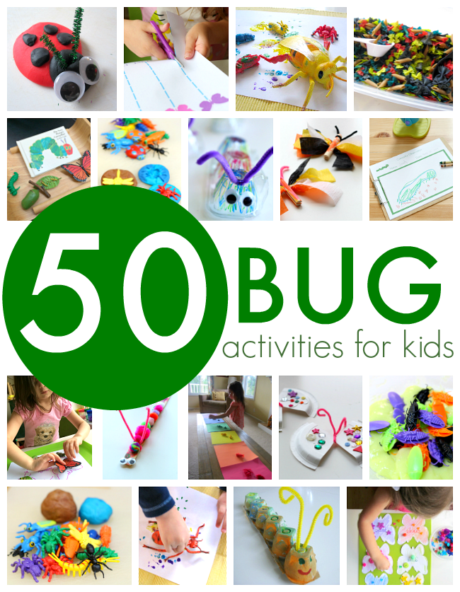 image relating to Bugs and Kisses Free Printable named 50 Bug Actions for Young children - No Year For Flash Playing cards