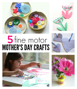 5 Fine Motor Mother's Day Crafts