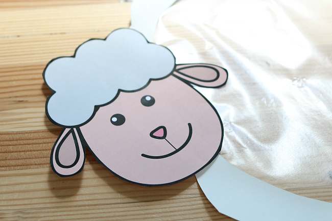 sheep sticky wall for preschool farm unit