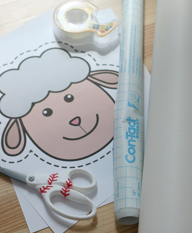 sticky sheep farm activity for preschool