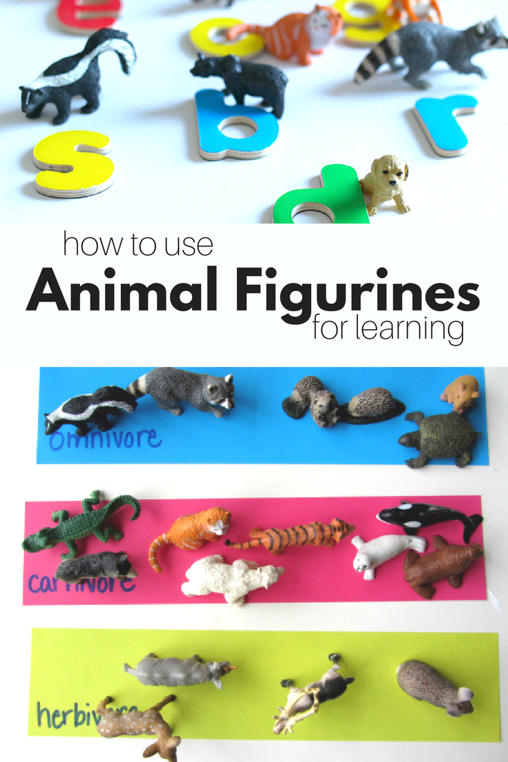 13 Ways To Use Animals Figurines for Learning - No Time For Flash Cards