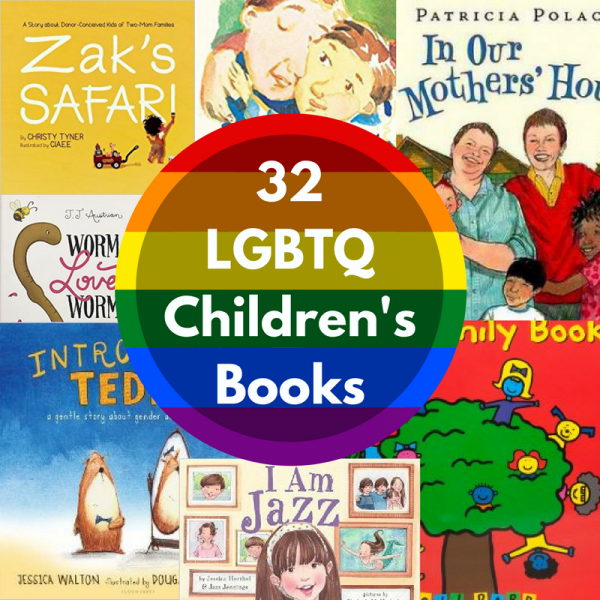 LGBTQ Children's books book list from no time for flash cards
