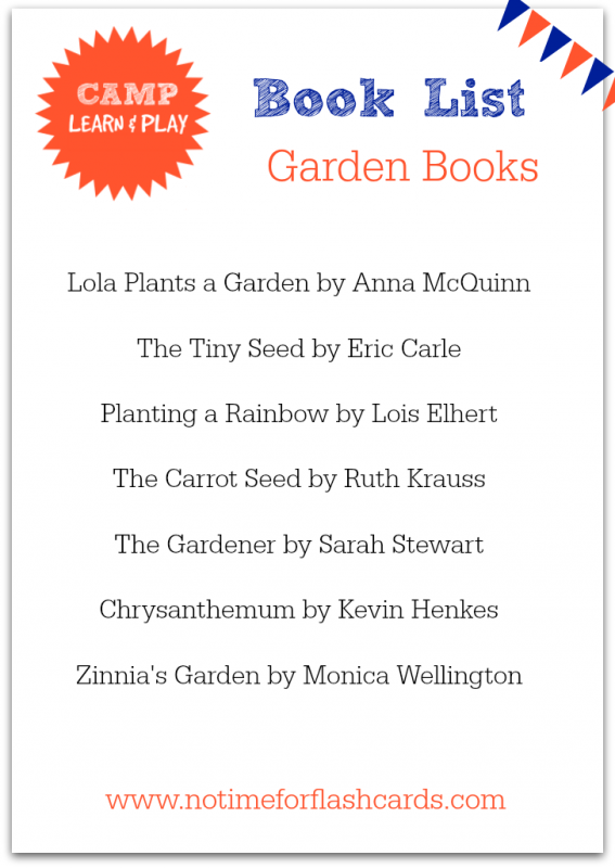 garden book list camp learn and play free summer camp at home