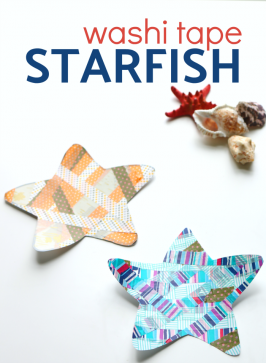 Washi Tape Starfish Craft