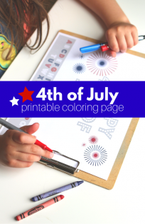 Free printable 4th of July coloring page and secret code activity!