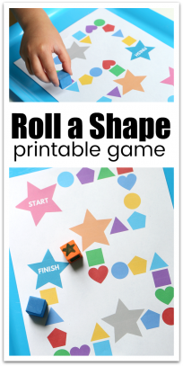 printable shape activity for preschool