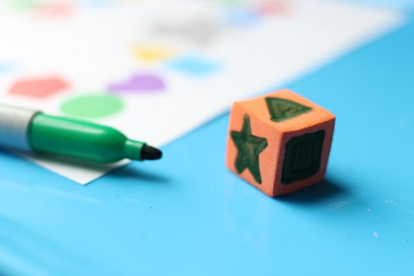roll a shape game for preschool