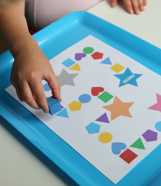roll a shape printable game for preschool