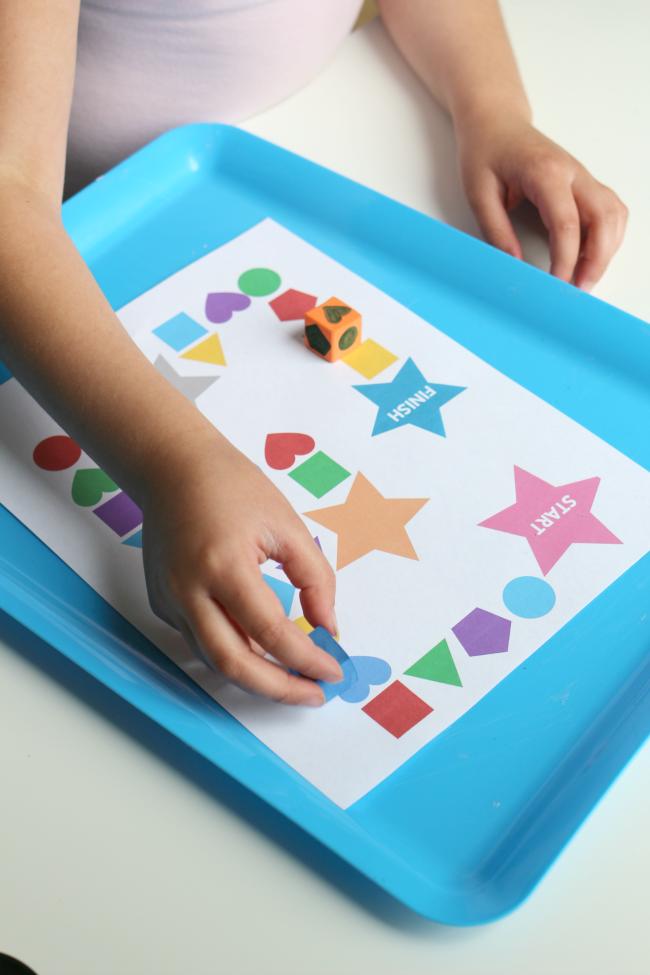 shape activity for preschool roll a shape printable
