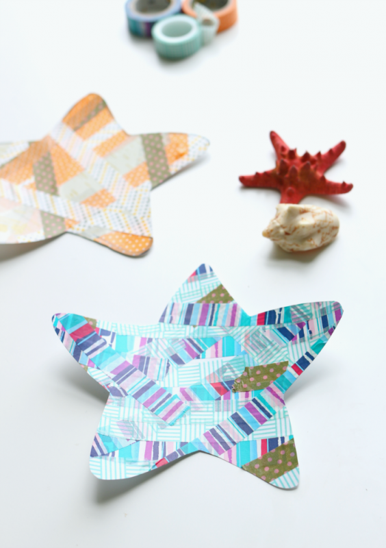 washi tape star fish craft for summer