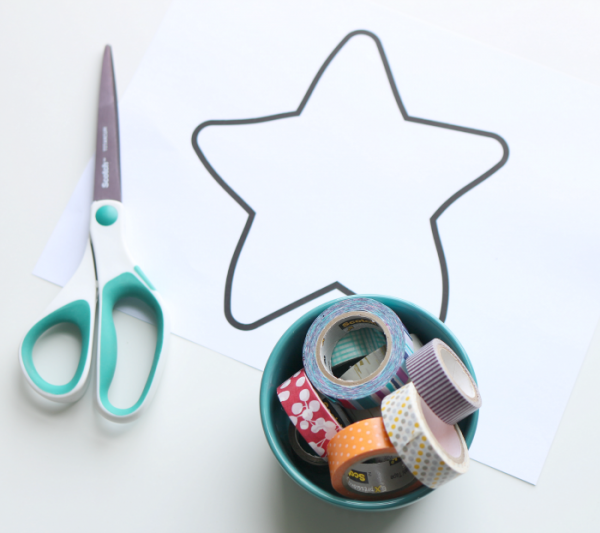 washi tape starfish craft