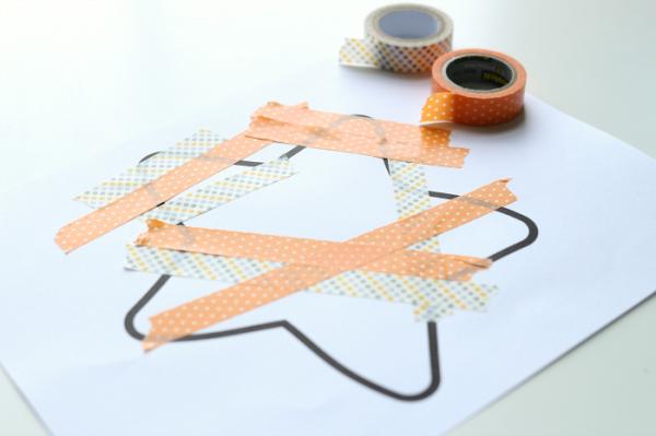 washi tape starfish craft for kids