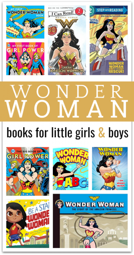 Wonder Woman Book List for kids - wonder woman books for little kids