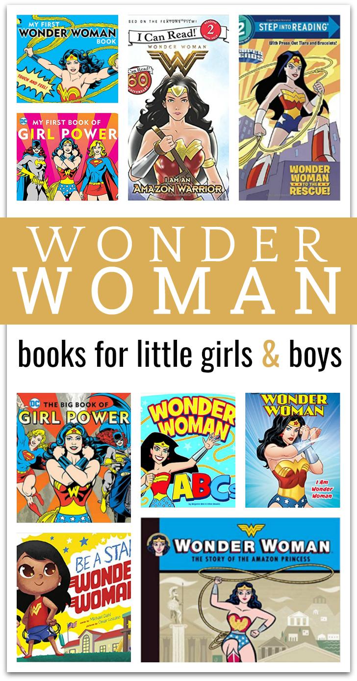 Wonder Woman Book List for kids - wonder woman books for little kids