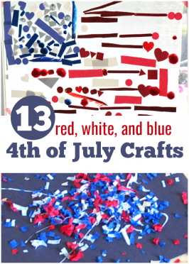 13 Red, White, and Blue 4th of July Crafts