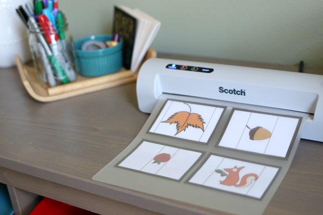 Free printable math activity for fall