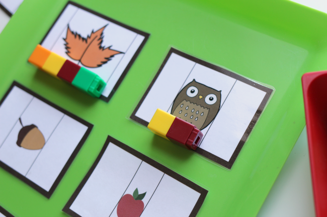 fall measurement cards for math centers by no time for flash cards