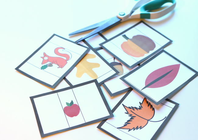 fall measurement cards for preschool free printable