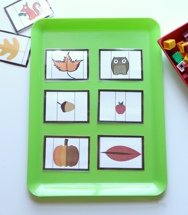 fall measurement cards for preschool no time for flash cards
