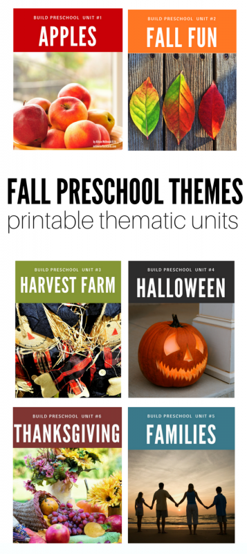 Fall preschool themes and lesson plans, circle time activities, and more.